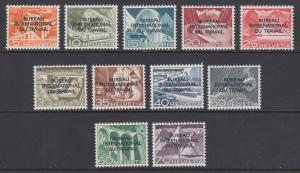 Switzerland Sc 3O83-3O93 MNH. 1950 International Labor Bureau ovpts, cplt set UN