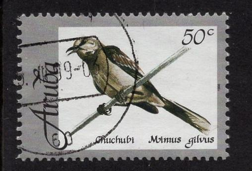 Aruba   #162   used  1998 native birds  50c