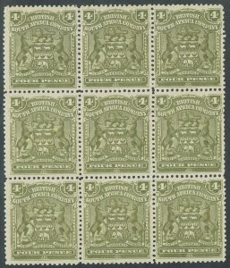 RHODESIA 1898 ARMS 4D BLOCK */**