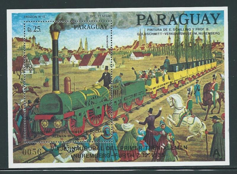 Paraguay 2152 1985 Train s.s. MNH