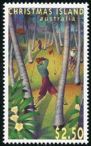 Christmas Island Scott 369 Unused HROG - 40th Annv. of Golf Course - SCV $6.00