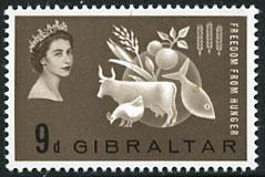 Gibraltar 161 MNH - Freedom From Hunger