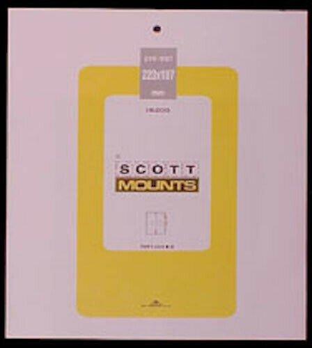 Scott/Prinz Pre-Cut Souvenir Sheets Small Panes Stamp Mounts 223x187 #1006 Clear