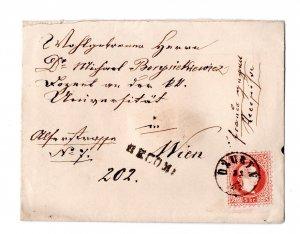 letter  1882 : dzuryn - wien , reco ,franco gegen recepisse