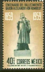 MEXICO 908 Death Centennial of Alexander von Humboldt MNH