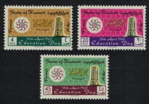 Kuwait Education Day 3v 1965 MH SC#282-285 SG#278-280