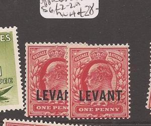 British Levant SG L2-2a MNH (4dbl)