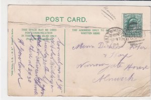 England 1904 Haltwhistle Cancel Featherstone Castle Illust. Stamp Card Ref 34868