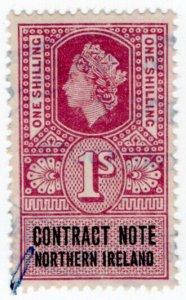 (I.B) Elizabeth II Revenue : Contract Note (Northern Ireland) 1/-