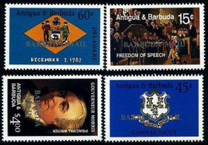 HERRICKSTAMP BARBUDA Sc.# 942-45 U.S. Constitution