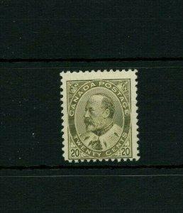 #94 Edward 20 cent fine MH Cat $400 Canada mint