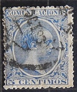 Spain, 1889 King Alfonso XII, YT #198, (1632-T)