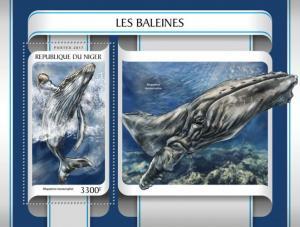 NIGER - 2017 - Whales - Perf Souv Sheet - MNH