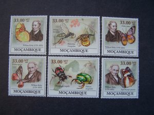 Mozambique 2009 MNH Butterflies & Insects William Kirby