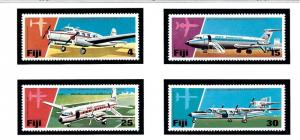 Fiji 367-70 MNH 1976 Anniv of air services in Fiji