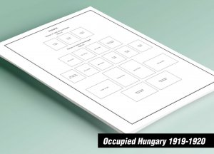 PRINTED OCCUPIED HUNGARY 1919-1920 STAMP ALBUM PAGES (46 pages)