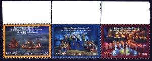 Myanmar. 2018. 459-61. Myanmar culture, dolls, temples. MNH.
