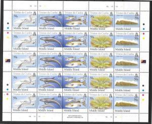 TRISTAN DA CUNHA SG855/9 2006 MIDDLE ISLANDS SHEETLETS MNH