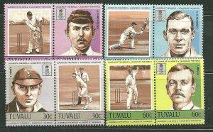 Tuvalu MNH 259-62 Cricket Players