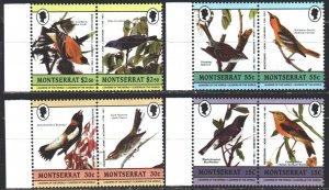 Montserrat. 1985. 597-604. Birds, Odabon, fauna. MNH.