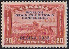 Canada USC #203 Mint Fresh & VF-NH 1933 20c Grain Conference - Cat. $120.