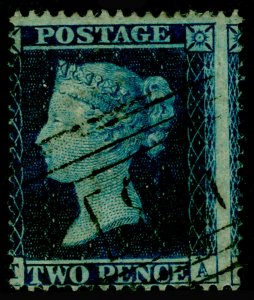 SG36a, 2d blue plate 6, LC16, USED. Cat £375.