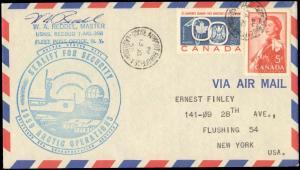 CANADA 1959 ARCTIC OPERATIONS CACHET + SINGED