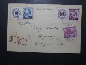 Bohemia Moravia 1941 Registered Cover to Augsburg - Z11051