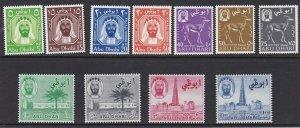 Abu Dhabi # 1-11, Sheik, Gazelle, Camel, Oil Wells, NH, 1/2 Cat
