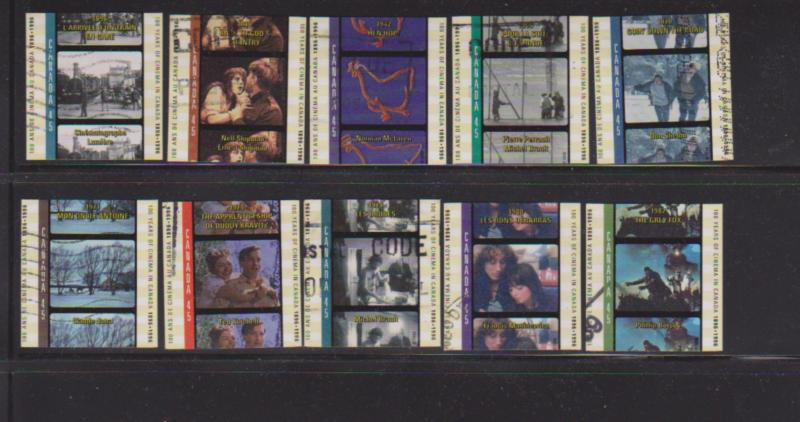 CANADIAN  SET OF CINEMA IN CANADA  (10) USED STAMPS  LOT#22