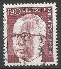 BERLIN, 1970, MNH 190pf Pres Heinemann Scott 9N300B