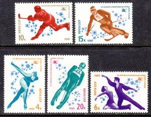 Russia MNH 4807-11 Lake Placid Olympics 1980
