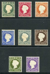 Gambia SG21/35 1886-93 1886-93 QV Wmk Crown CA Set of 8 M/M