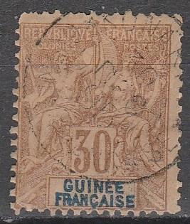 French Guinea #12 F-VF  Used  CV $32.50 (A12994)