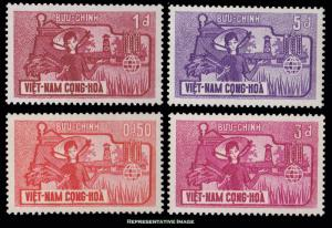 Vietnam Scott 207-210 Mint hinged.