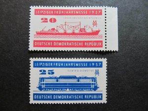 A5207 Deutschland DDR Allemagne Germany GDR 1957 fine MH* set