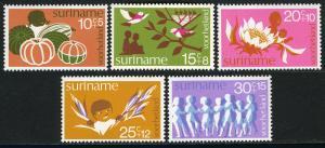Surinam B211-B215, MNH. Child welfare. Fruit, Birds, Flower, Children, 1974