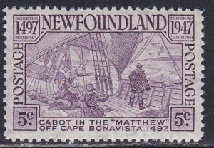 Newfoundland # 270, Deck of the Matthew, NH, Half Cat