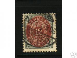 40B DENMARK 1870 #29 USED