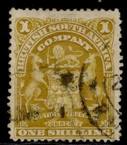 RHODESIA QV SG84d, 1s brownish yellow, USED. Cat £16.