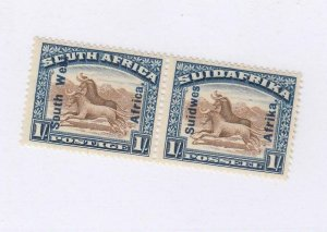 SOUTH WEST AFRICA # 90 VF-MLH PAIR 1sh CAT VALUE $17.50