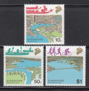 Singapore 1987 Sc 508-10 River Life MNH