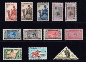 FRANCE COLONIES  MAURITANIE  MINT STAMPS COLLECTION LOT