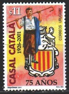 Uruguay. 2001. 2591. Catalan Association in Uruguay. MNH.