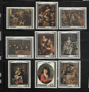 PARAGUAY, 1031-1039, MNH, PAINTINGS