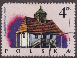 Poland 2025 USED 1974 Sulmierzyce Town Hall 4.00zł