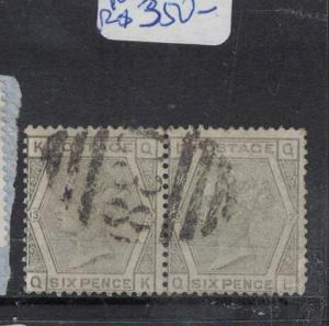 Great Britain Used Callao SG Z46, PL13 Pair VFU (1dqi)
