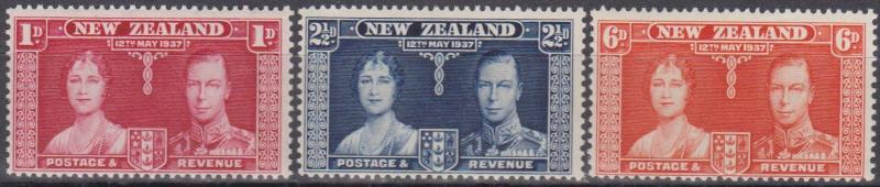 New Zealand #223-5 F-VF Unused (ST010)
