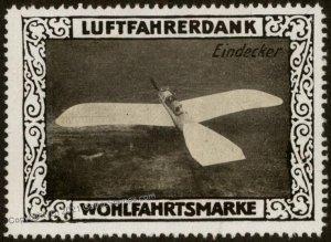 Germany WWI Eindecker Air Force Memorial Luftfahrerdank Flight MNH  Cind G102819
