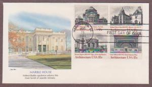 US # 1928 - # 1931 , American Architecture on 1 Fleetwood FDC - I Combine S/H